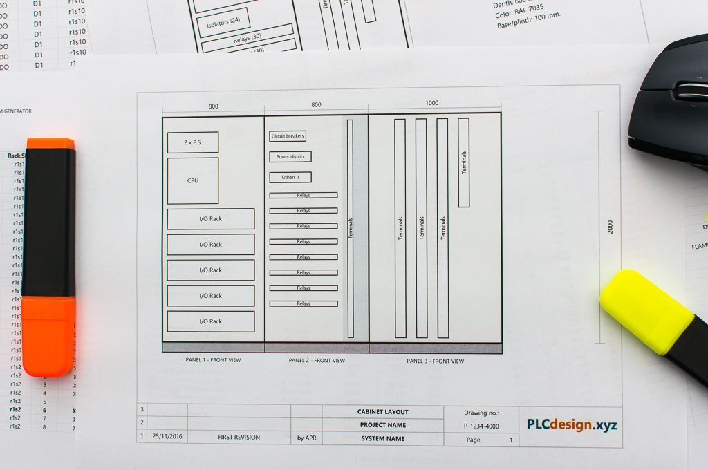 electrical cabinet layout